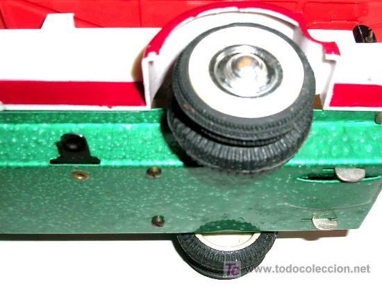 Juguetes antiguos Payá: Camión volquete, plástico-lata, mecanismo de cuerda, Paya IBI made in Spain, año 1958. Con caja. - Foto 11 - 27445548