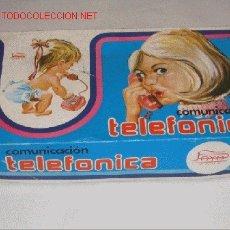 Juguetes antiguos Payá: COMUNICACIÓN TELEFÓNICA PAYÁ, COMPLETO EN SU CAJA ORIGINAL. Lote 23685301