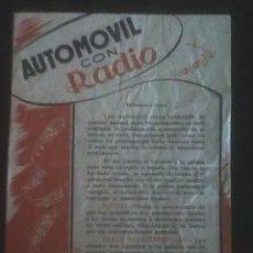 Juguetes antiguos Payá: CUARTILLA DE PAYA: INSTRUCCIONES PARA AUTOMOVIL CON RADIO REF. 3008(((UN TESORO))). Lote 26000194