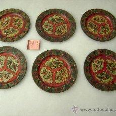 Juguetes antiguos Payá: SEIS PLATOS DE PAYA. Lote 23006850