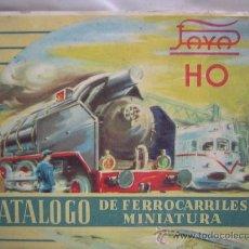 Juguetes antiguos Payá: CATALOGO DE FERROCARRILES MINIATURA DE LA CASA PAYA. Lote 26832204