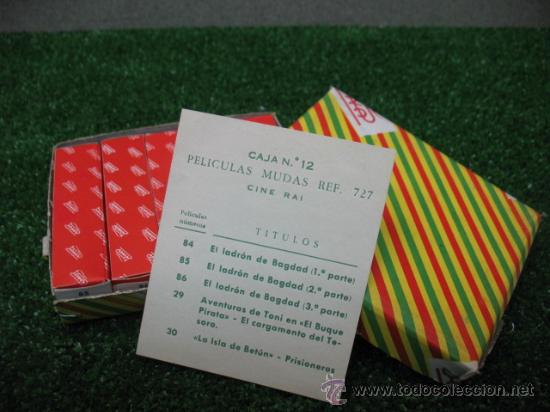 (PAYA) CAJA DE PELICULAS Nº 12 REF: 727 (Juguetes - Marcas Clásicas - Payá)