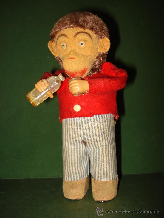 Juguetes antiguos Payá: Mono Automata con Botella y Vaso de Juguetes PAYÁ , Perfecto . Año 1960s. - Foto 8 - 28009871
