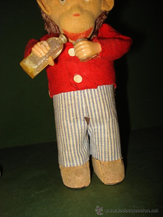 Juguetes antiguos Payá: Mono Automata con Botella y Vaso de Juguetes PAYÁ , Perfecto . Año 1960s. - Foto 4 - 28009871