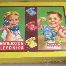 Juguetes antiguos Payá: CONSTRUCCIÓN TELÉFONICA DE PAYÁ,CAJA ORIGINAL,AÑOS 50. Lote 31250029