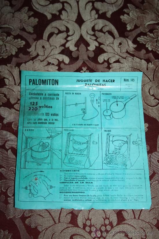 Juguetes antiguos Payá: PALOMITÓN DE 'PAYA' - NÚM. 145 - JUGUETE DE HACER PALOMITAS - CON SU CAJA ORIGINAL E INSTRUCCIONES - Foto 9 - 33232495