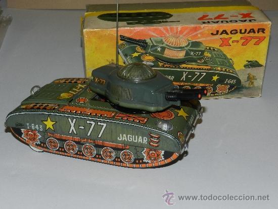 (M) TANQUE JAGUAR X-77 , PAYA, TANQUE CON CAJA, (Juguetes - Marcas Clásicas - Payá)