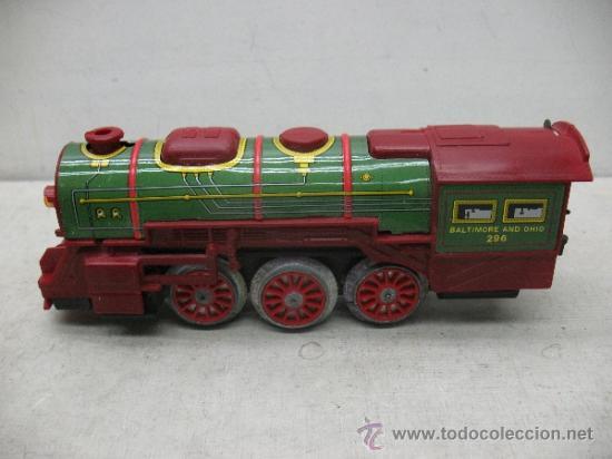Juguetes antiguos Payá: Paya Ref: 0-0007 - Locomotora con humo, con tres vagones American Railway Express y vías - Foto 7 - 38897802