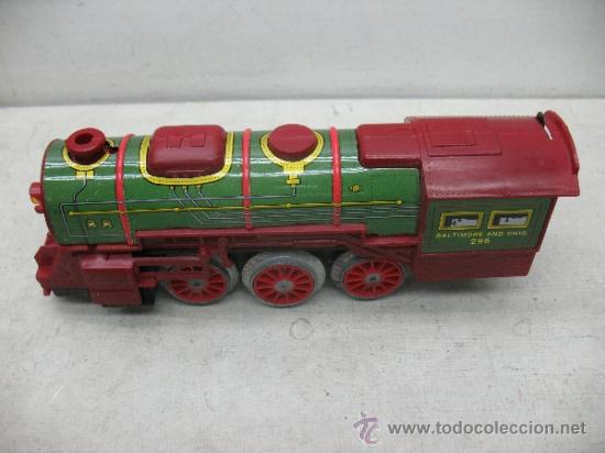 Juguetes antiguos Payá: Paya Ref: 0-0007 - Locomotora con humo, con tres vagones American Railway Express y vías - Foto 6 - 38897802