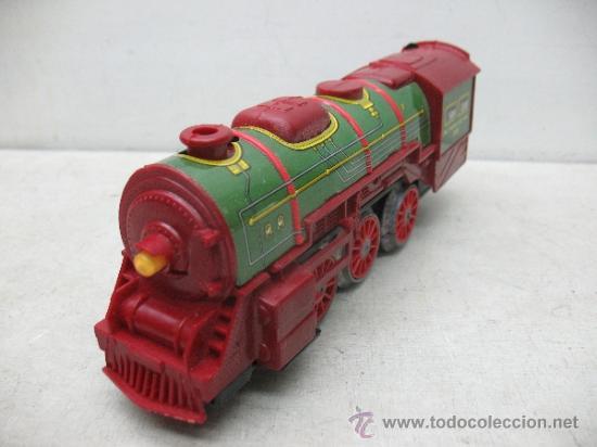 Juguetes antiguos Payá: Paya Ref: 0-0007 - Locomotora con humo, con tres vagones American Railway Express y vías - Foto 5 - 38897802