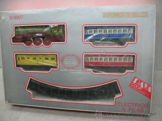 Juguetes antiguos Payá: Paya Ref: 0-0007 - Locomotora con humo, con tres vagones American Railway Express y vías - Foto 10 - 38897802