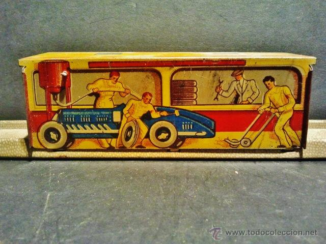 Juguetes antiguos Payá: Carrera de autos sobre pista de Payá. Años 40-50. Hojalata litrografiada. Funciona correctamente. - Foto 5 - 41717452