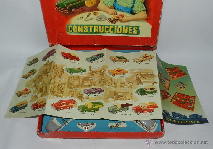 Juguetes antiguos Payá: CAJA DE CONSTRUCCIONES PAYA, COCHES PAYA, COMPLETA CON CATALOGO, LA CAJA MIDE 36 X 31 CMS. - Foto 3 - 43676235