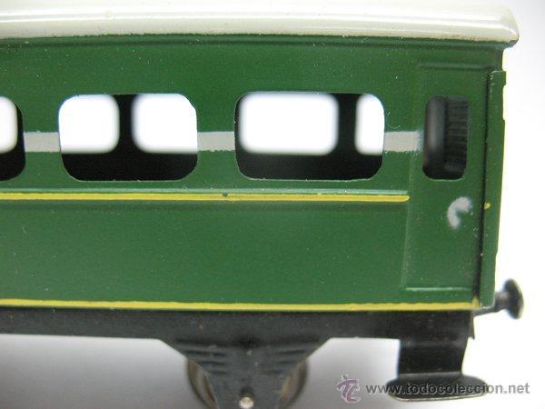 Juguetes antiguos Payá: Paya,vagon metalico de Pasajeros- Escala H0 - Foto 2 - 46086073