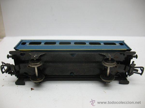 Juguetes antiguos Payá: Paya,vagon metalico de Pasajeros- Escala H0 - Foto 3 - 46086074