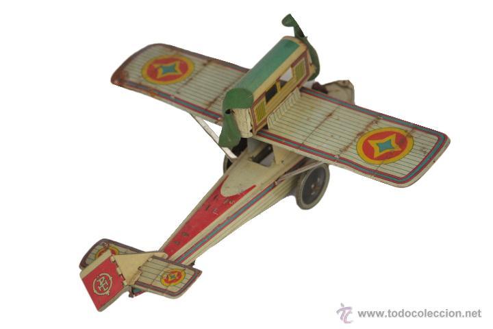 Juguetes antiguos Payá: Payá Avión 916 PLUS ULTRA ORIGINAL - Foto 2 - 46086503