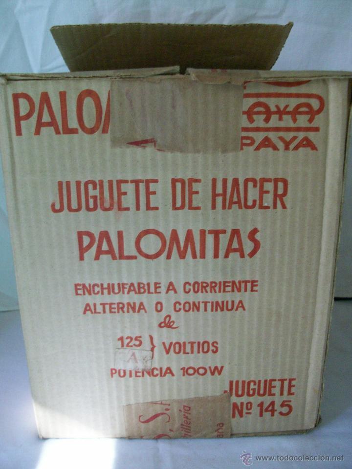 Juguetes antiguos Payá: JUGUETE ANTIGUO-PALOMITON DE PAYA-PARA HACER PALOMITAS-AÑOS 60-CAJA ORIGINAL - Foto 8 - 100354184