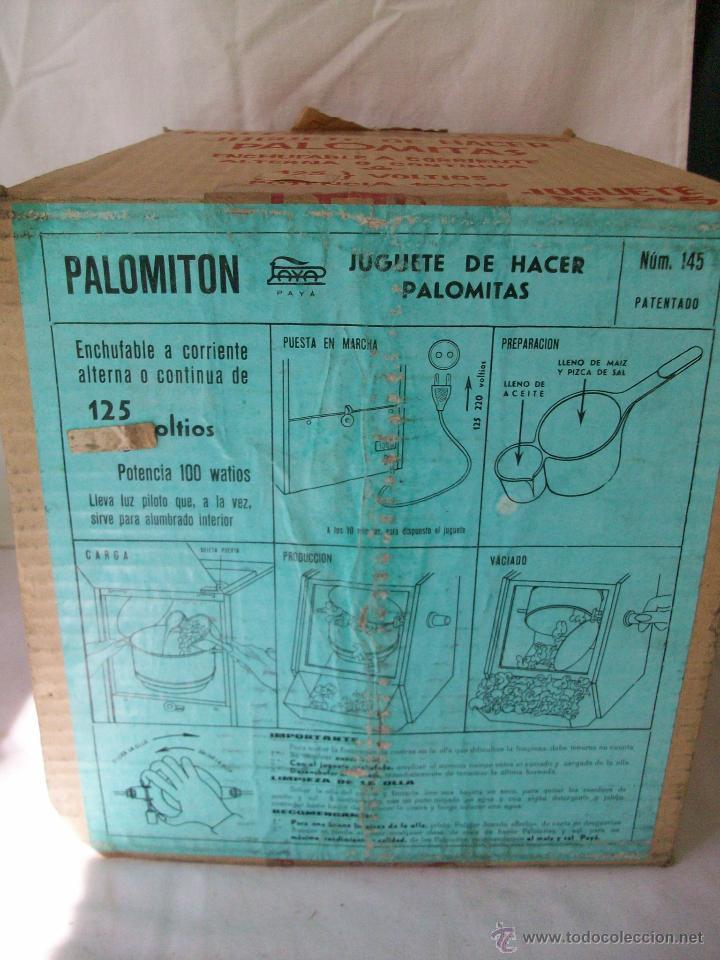 Juguetes antiguos Payá: JUGUETE ANTIGUO-PALOMITON DE PAYA-PARA HACER PALOMITAS-AÑOS 60-CAJA ORIGINAL - Foto 9 - 100354184