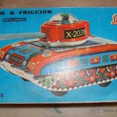 Juguetes antiguos Payá: DIFICIL CAJA VACIA DE TANQUE A FRICCION PAYA METAL REF 8065 ORIGINAL. Lote 50738855