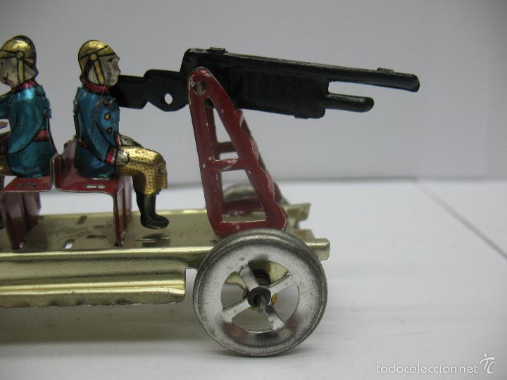 Juguetes antiguos Payá: Paya - Réplica coche de bomberos de hojalata - Foto 3 - 257933620