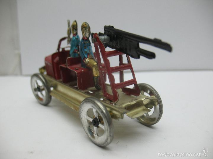 Juguetes antiguos Payá: Paya - Réplica coche de bomberos de hojalata - Foto 5 - 257933620