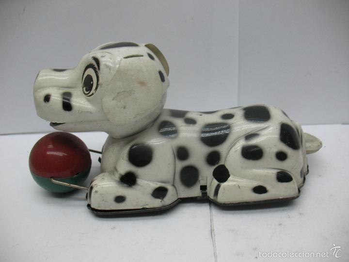 Juguetes antiguos Payá: Paya - Perro dálmata con mecanismo a cuerda fabricado en España - Foto 2 - 55945699