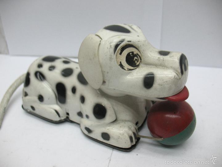 Juguetes antiguos Payá: Paya - Perro dálmata con mecanismo a cuerda fabricado en España - Foto 6 - 55945699
