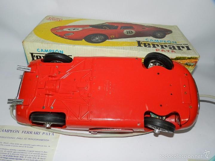 Juguetes antiguos Payá: Coche dirigido por cable, Ferrari Campeón 250 Le Mans 3100, de Payá, Made in Spain, año 1966, en bue - Foto 2 - 57082540