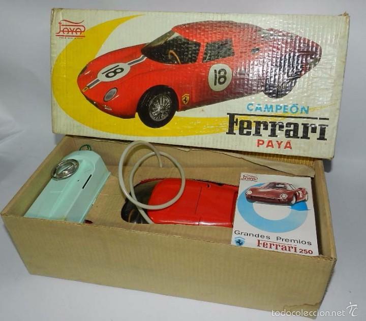 Juguetes antiguos Payá: Coche dirigido por cable, Ferrari Campeón 250 Le Mans 3100, de Payá, Made in Spain, año 1966, en bue - Foto 4 - 57082540
