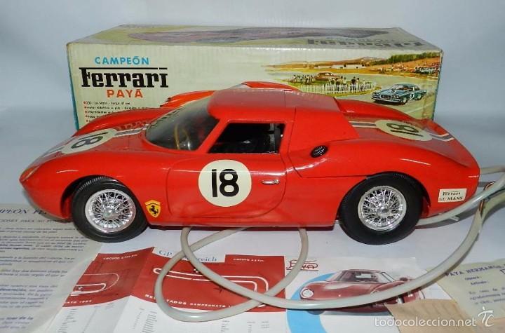 Juguetes antiguos Payá: Coche dirigido por cable, Ferrari Campeón 250 Le Mans 3100, de Payá, Made in Spain, año 1966, en bue - Foto 6 - 57082540
