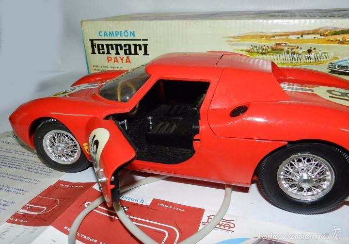 Juguetes antiguos Payá: Coche dirigido por cable, Ferrari Campeón 250 Le Mans 3100, de Payá, Made in Spain, año 1966, en bue - Foto 8 - 57082540