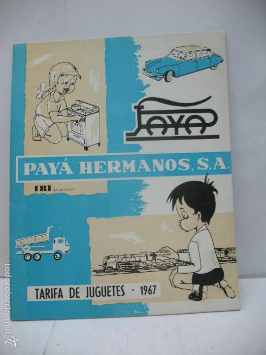 PAYA - ANTIGUO CATÁLOGO DE TARIFA DE JUGUETES 1967 PAYA HERMANOS IBI (Juguetes - Marcas Clásicas - Payá)