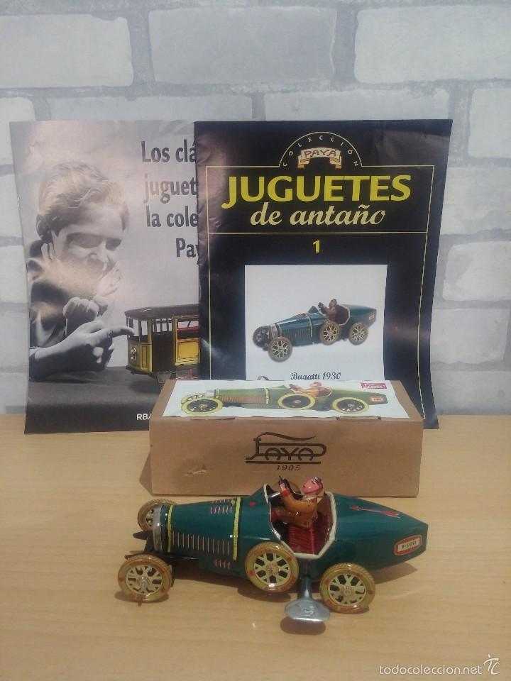COCHE HOJALATA BUGATTI PAYA REEDICION (Juguetes - Marcas Clásicas - Payá)