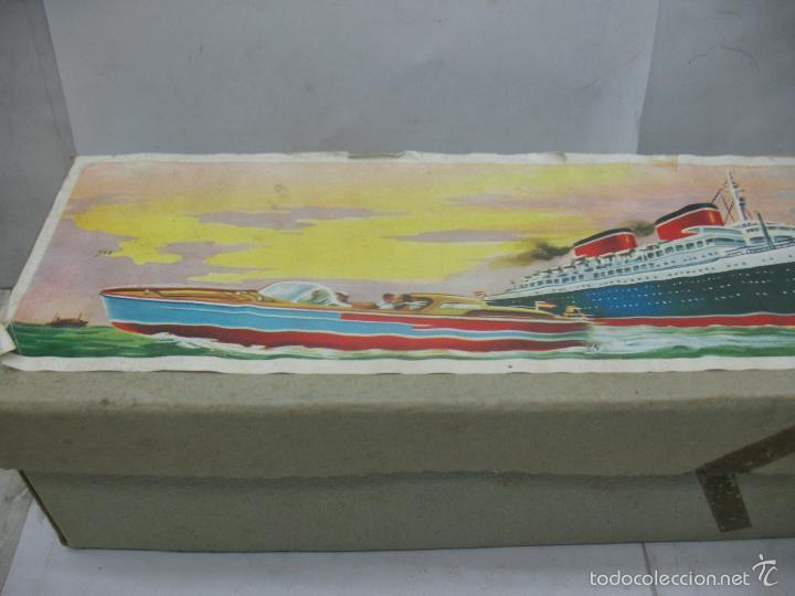 Juguetes antiguos Payá: PAYA Ref: 3074 - Antigua caja original de barco fabricada en España - Foto 2 - 60920555