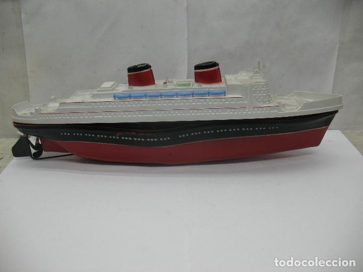 Juguetes antiguos Payá: PAYA - Antiguo barco de plástico con mecanismo a cuerda - Foto 2 - 63287268
