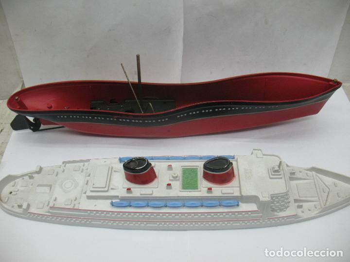 Juguetes antiguos Payá: PAYA - Antiguo barco de plástico con mecanismo a cuerda - Foto 3 - 63287268