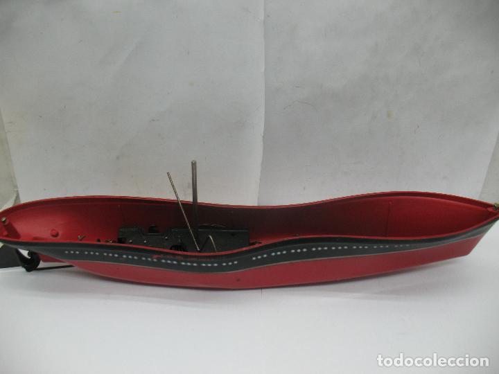 Juguetes antiguos Payá: PAYA - Antiguo barco de plástico con mecanismo a cuerda - Foto 4 - 63287268