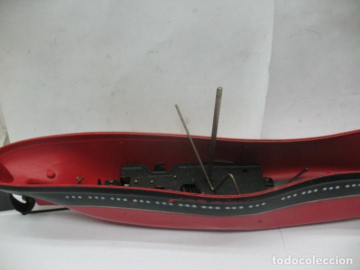 Juguetes antiguos Payá: PAYA - Antiguo barco de plástico con mecanismo a cuerda - Foto 7 - 63287268
