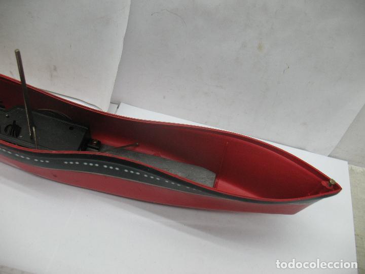 Juguetes antiguos Payá: PAYA - Antiguo barco de plástico con mecanismo a cuerda - Foto 8 - 63287268