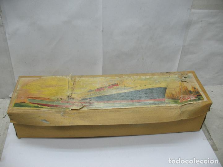Juguetes antiguos Payá: PAYA - Antiguo barco de plástico con mecanismo a cuerda - Foto 9 - 63287268