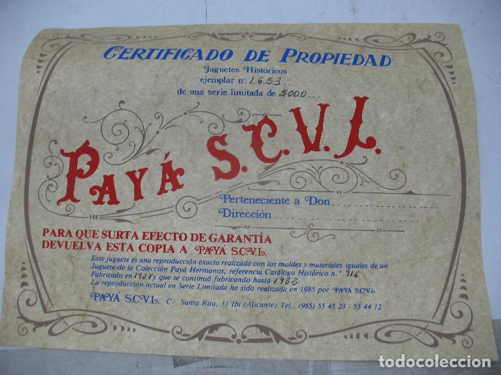 Juguetes antiguos Payá: PAYÁ Ref: 1653 - Réplica avión de la Colección Payá Hermanos 1985 - Foto 15 - 64649459