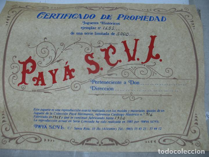 Juguetes antiguos Payá: PAYÁ Ref: 1653 - Réplica avión de la Colección Payá Hermanos 1985 - Foto 16 - 64649459
