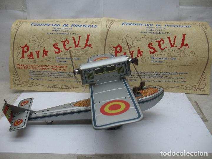 Juguetes antiguos Payá: PAYÁ Ref: 1653 - Réplica avión de la Colección Payá Hermanos 1985 - Foto 17 - 64649459