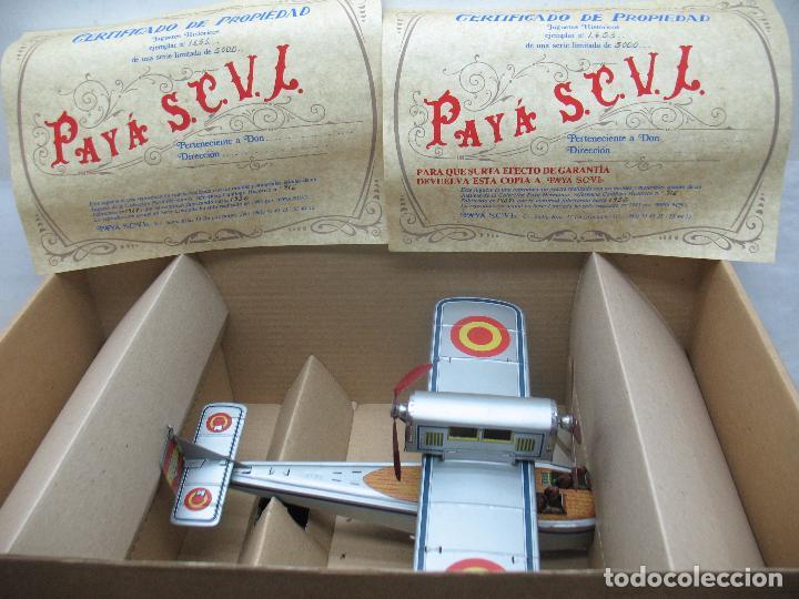 Juguetes antiguos Payá: PAYÁ Ref: 1653 - Réplica avión de la Colección Payá Hermanos 1985 - Foto 18 - 64649459