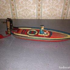 Juguetes antiguos Payá: BARCO PAYA 1928 DE CHAPA. Lote 69123527