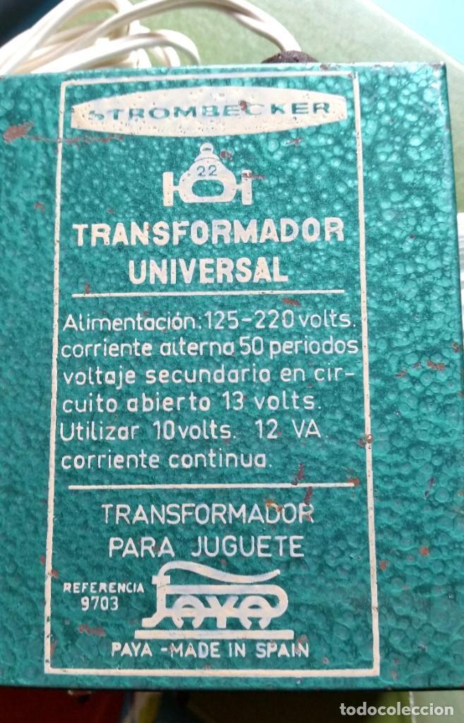 TRANSFORMADOR UNIVERSAL PAYA STROMBECKER (Juguetes - Marcas Clásicas - Payá)