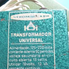 Juguetes antiguos Payá: TRANSFORMADOR UNIVERSAL PAYA STROMBECKER. Lote 84411948