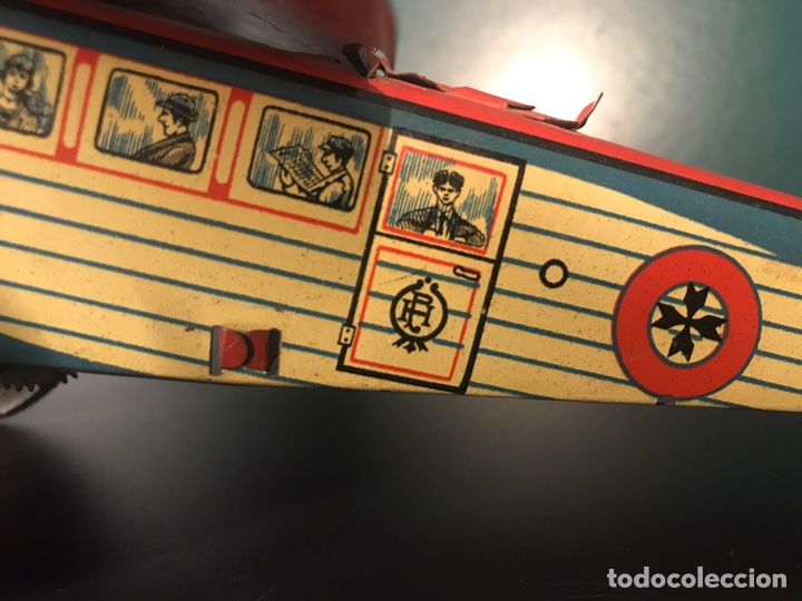 Juguetes antiguos Payá: AVIÓN PAYA A CUERDA. FUNCIONA. HOJALATA LITOGRAFIADA. AÑOS 20. 37x35x9 CM. - Foto 5 - 101192328