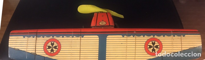 Juguetes antiguos Payá: AVIÓN PAYA A CUERDA. FUNCIONA. HOJALATA LITOGRAFIADA. AÑOS 20. 37x35x9 CM. - Foto 10 - 101192328