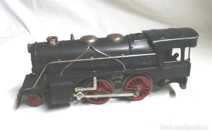 Juguetes antiguos Payá: Tren Escala 0 Locomotora 987 con Tender y 3 Vagones Butacas con luz año 1951 de Paya - Foto 2 - 105281819